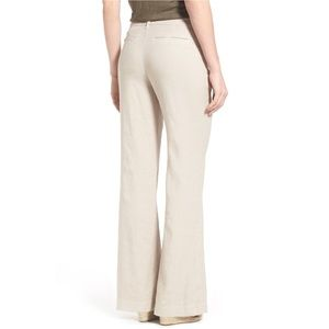 NWT NYDJ 'Claire' Linen Blend Wide Leg Trousers